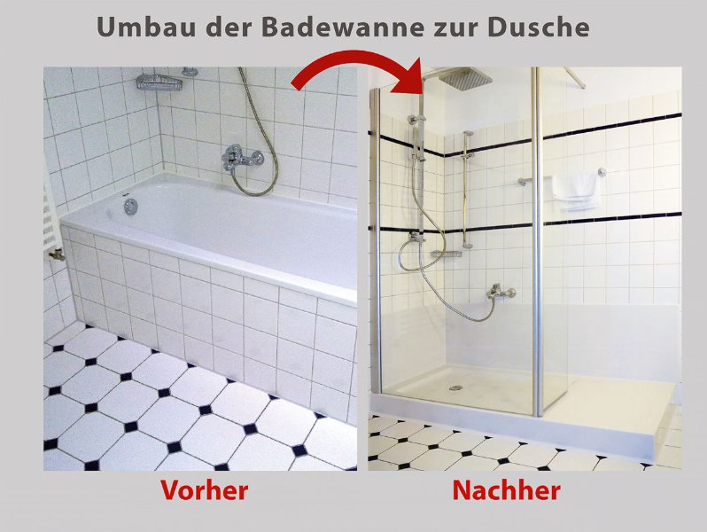 wanne zur dusche die barrierefreie dusche in 8 std fertig umgebaut. Black Bedroom Furniture Sets. Home Design Ideas