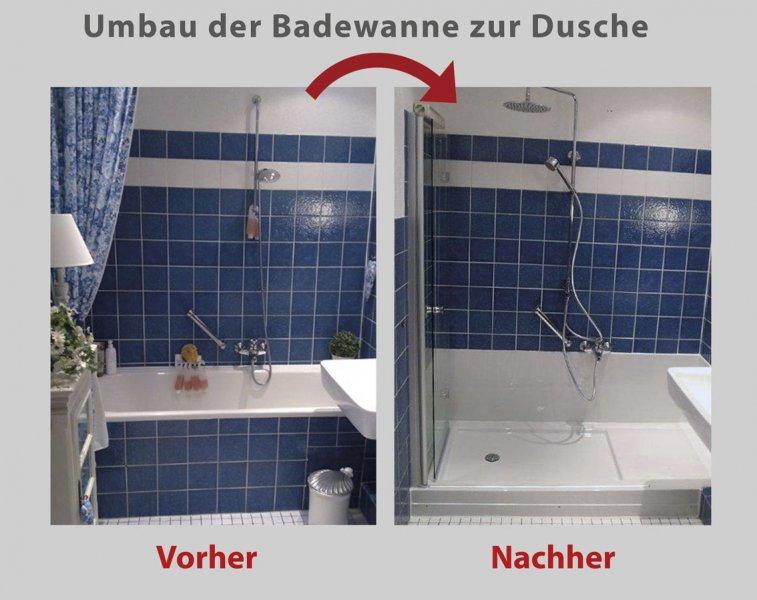 Wanne zur Dusche - die barrierefreie Dusche in 8 Std. fertig umgebaut